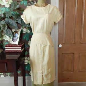Vintage Button Up Skirt Set
